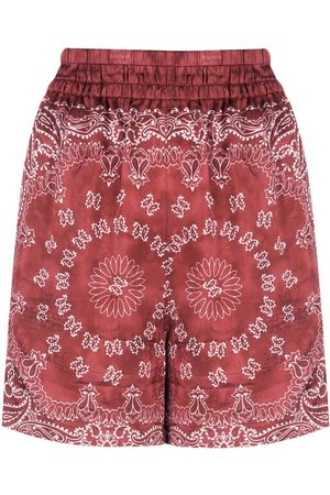 Golden Goose Bandana-print satin shorts