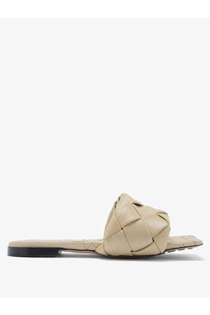 Bottega Veneta The Lido Intrecciato Leather Slides - Womens
