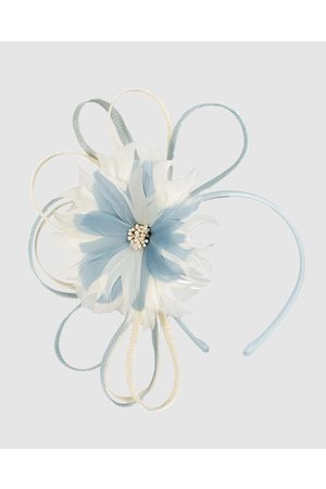 Max Alexander Feather Flower Racing Fascinator - Fascinators ( & Cream) Feather Flower Racing Fascinator