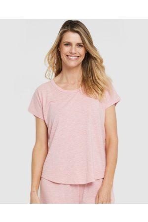 Bamboo Body Women Nightdresses & Shirts - Lounge Tee - Sleepwear (Rose) Lounge Tee