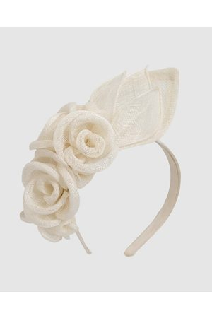 Max Alexander Flower Sinamay Fascinator Headband - Fascinators (Cream) Flower Sinamay Fascinator Headband