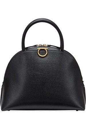 Salvatore Ferragamo Leather Bowling Bag
