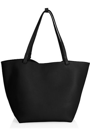 The Row Two-Tone Pebbled Leather Tote