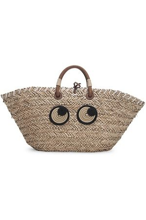 Anya Hindmarch Large Eyes Straw Tote