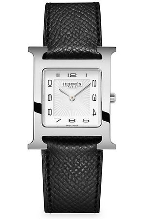 Hermès Heure H 26MM Stainless Steel & Leather Strap Watch