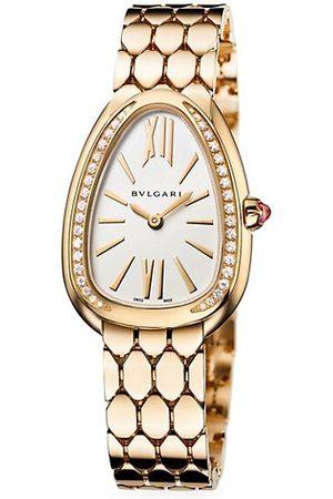 Bvlgari Serpenti Seduttori 18K Yellow Gold & Diamond Bracelet Watch