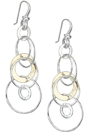 Ippolita Classico Chimera Two-Tone Hammered Jet Set Earrings