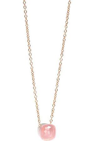 Pomellato Nudo 18K & White Gold & Rose Quartz Pendant Necklace