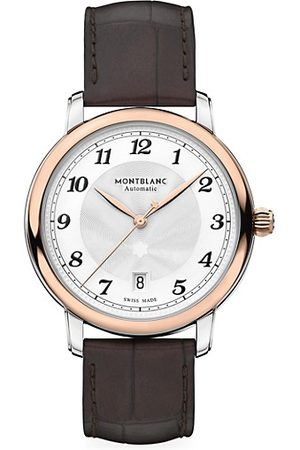 Mont Blanc Star Legacy Stainless Steel & Alligator Strap Automatic Date Watch