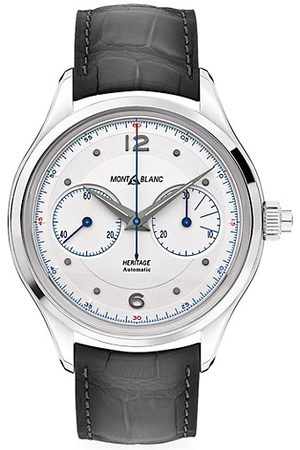 Mont Blanc Watches - Heritage Stainless Steel & Alligator Strap Monopusher Chronograph Watch