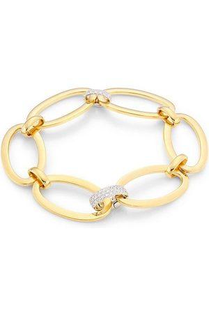 Alberto Milani Via Senato 18K Yellow & Diamond Oval Link Bracelet