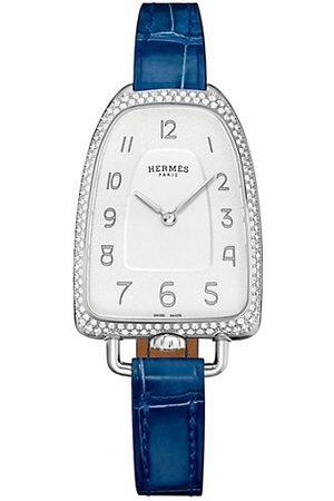 Hermès Galop 26MM Diamond, Stainless Steel & Alligator Strap Watch