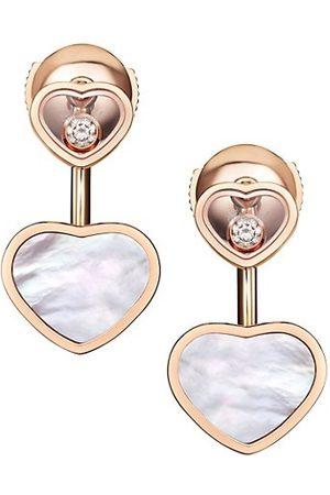 Chopard Happy Hearts 18K , Diamond & Mother-of-Pearl Earrings