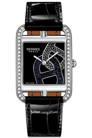 Hermès Cape Cod 29MM Diamond, Stainless Steel & Alligator Strap Watch
