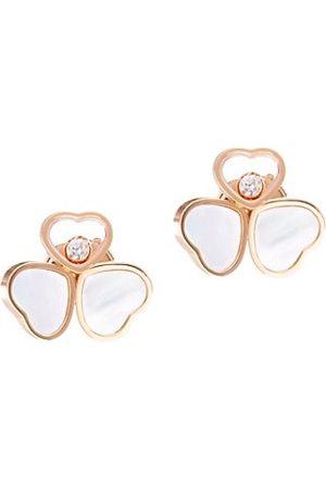 Chopard Happy Hearts 18K , Diamond & Mother-of-Pearl Stud Earrings