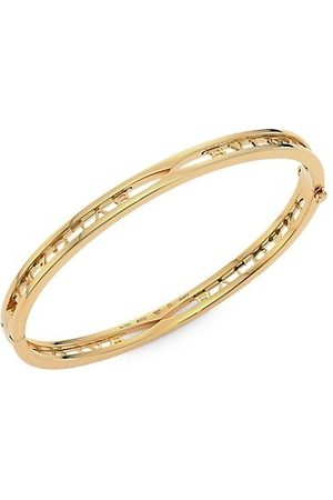 Bvlgari B.zero1 18K Yellow Logo Bangle Bracelet