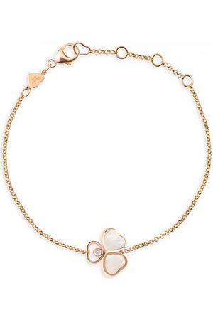 Chopard Happy Hearts Wings 18K , Diamond & Mother-Of-Pearl Bracelet