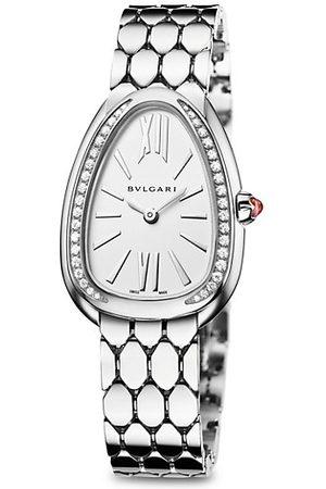 Bvlgari Serpenti Seduttori Steel & Diamond Bracelet Watch