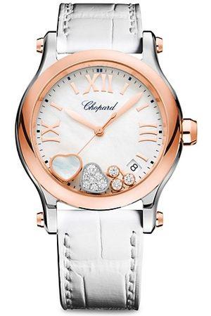 Chopard Happy Sport Diamond, 18K , Stainless Steel & Alligator Strap Watch