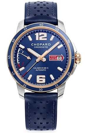 Chopard Classic Racing Mille Miglia GTS Azzurro Power Control 18K Rose Gold, Stainless Steel & Leather Strap Watch
