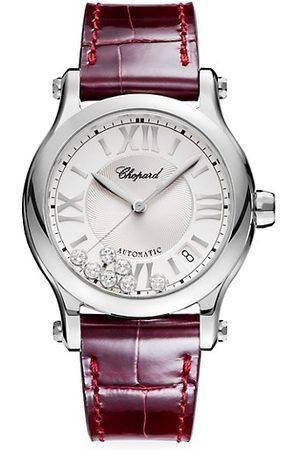 Chopard Watches - Happy Sport Stainless Steel, Diamond & Alligator-Strap Watch