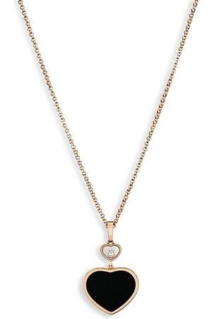 Chopard Happy Hearts 18K , Diamond & Black Onyx Pendant Necklace