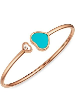 Chopard Happy Hearts 18K , Diamond & Turquoise Bangle