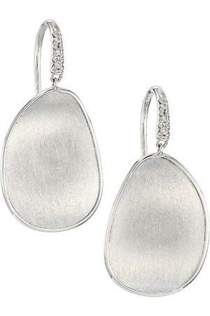 Marco Bicego Lunaria 18K White Gold & Diamond Dangle Drop Earrings