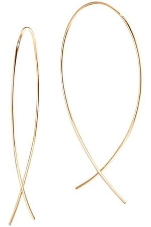 Lana 14K Yellow Gold Small Wire Upside Down Hoops