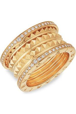 Bvlgari B.zero1 Rock 18K Yellow & Diamond 4-Band Ring