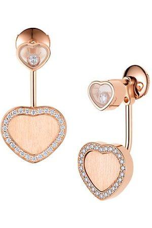 Chopard X 007 Happy Hearts - Golden Hearts 18K & Diamond Pavé Limited Edition Drop Earrings