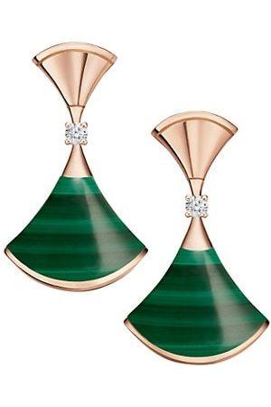Bvlgari Earrings - Divas' Dream 18K , Malachite & Diamond Earrings