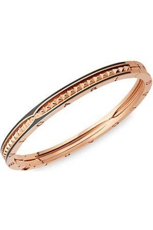 Bvlgari B.zero1 18K Rose Gold & Black Ceramic Bangle Bracelet