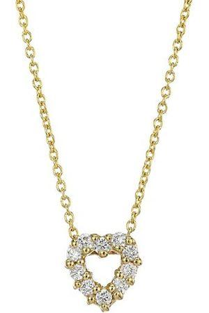 Roberto Coin Tiny Treasures 18K Yellow & Diamond Heart Pendant Necklace