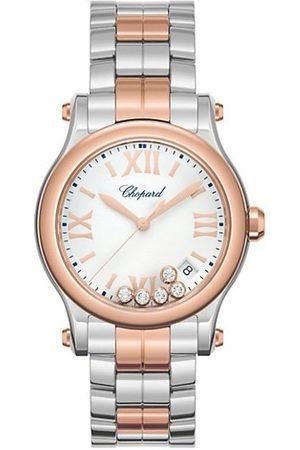 Chopard Watches - Happy Sport 18K Rose Gold, Stainless Steel & Diamond Bracelet Watch
