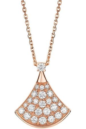 Bvlgari Divas' Dream 18K & Diamond Pavé Pendant Necklace