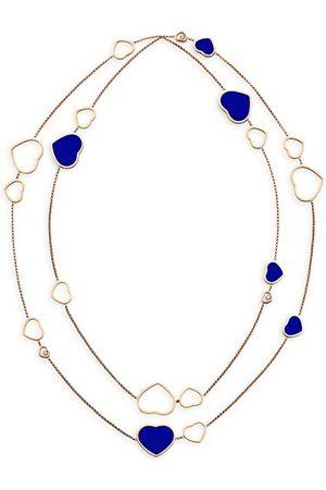 Chopard Happy Hearts 18K , Lapis Lazuli & Diamond Necklace