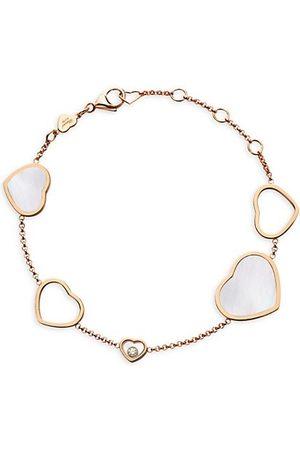 Chopard Happy Hearts 18K Mother-Of-Pearl & Diamond Charm Bracelet