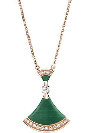 Bvlgari Necklaces - Divas' Dream 18K , Malachite & Diamond Pendant Necklace