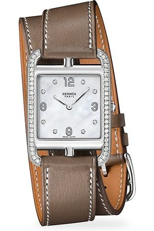 Hermès Cape Cod 29MM Diamond, Stainless Steel & Leather Strap Watch