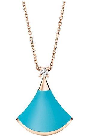 Bvlgari Divas' Dream 18K , Turquoise & Diamond Pendant Necklace