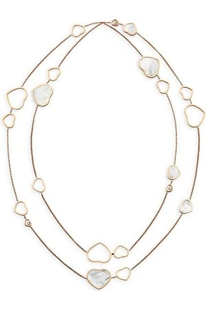 Chopard Happy Hearts 18K , Diamond & Mother-Of-Pearl 2-Strand Station Necklace
