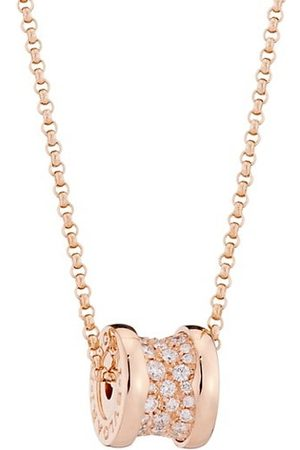 Bvlgari B.zero1 18K Rose Gold & Pavé Diamond Necklace