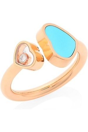 Chopard Rings - Happy Hearts 18K , Diamond and Turquoise Ring