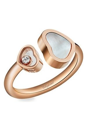 Chopard Happy Hearts 18K , Diamond & Mother-Of-Pearl Ring