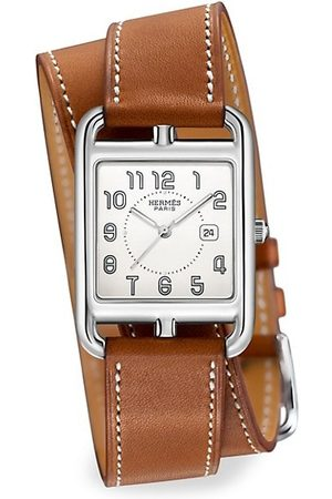 Hermès Watches - Cape Cod 29MM Stainless Steel & Leather Strap Watch