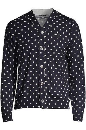 Comme des Garçons Heart Polka Dot Wool Button-Down Shirt