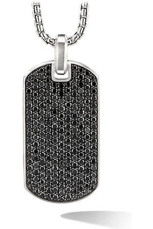David Yurman The Pavé Collection Sterling & Black Diamond Enhancer Tag Pendant