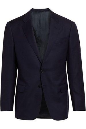 Armani Solid Single-Breasted Blazer