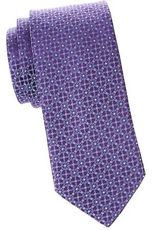 Eton Men Neckties - Floral Medallion Silk Tie